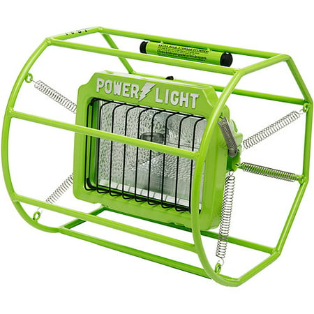 Designers Edge 500W Halogen Spring Mounted Power Light, Green, 10-Foot