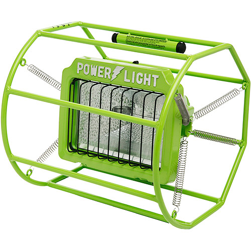 Designers Edge 500W Halogen Spring Mounted Power Light, 10' Cord, Green
