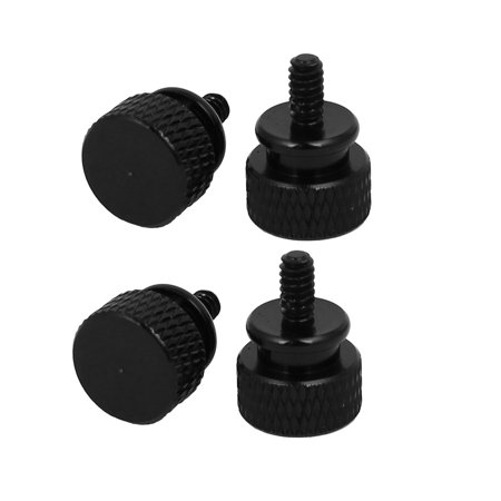Db9f Thumb Screws - Uxcell 6#-32 Computer PC Case Fully Threaded Knurled Thumb Screws Black (4-pack)