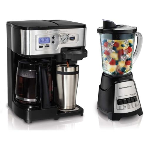 Hamilton Beach 49983 12 Cup 2Way FlexBrew Coffeemaker w/Bonus 58148 Blender 700W