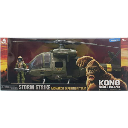Kong Skull Island Storm Strike Monarch Expedition Team Helicopter With Figure