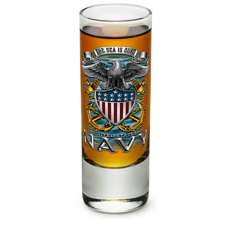 Shot Glasses – United States Navy Gifts for Men or Women – US Navy American Soldier Shot Glasses – Full Print Eagle Glass Shot Glasses with Logo - Set of 36 (2