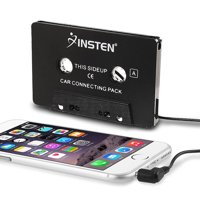 Insten Universal 3.5mm AUX Car Audio Cassette Tape Adapter Transmitters for MP3 iPod iPhone - Black