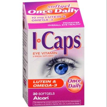 ICAPS lutéine et oméga-3 Gélules 30 Gels mous (pack de 3)