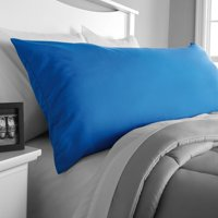 "Mainstays Microfiber 20"" x 52"" Blue Body Pillow Cover, 1 Each"