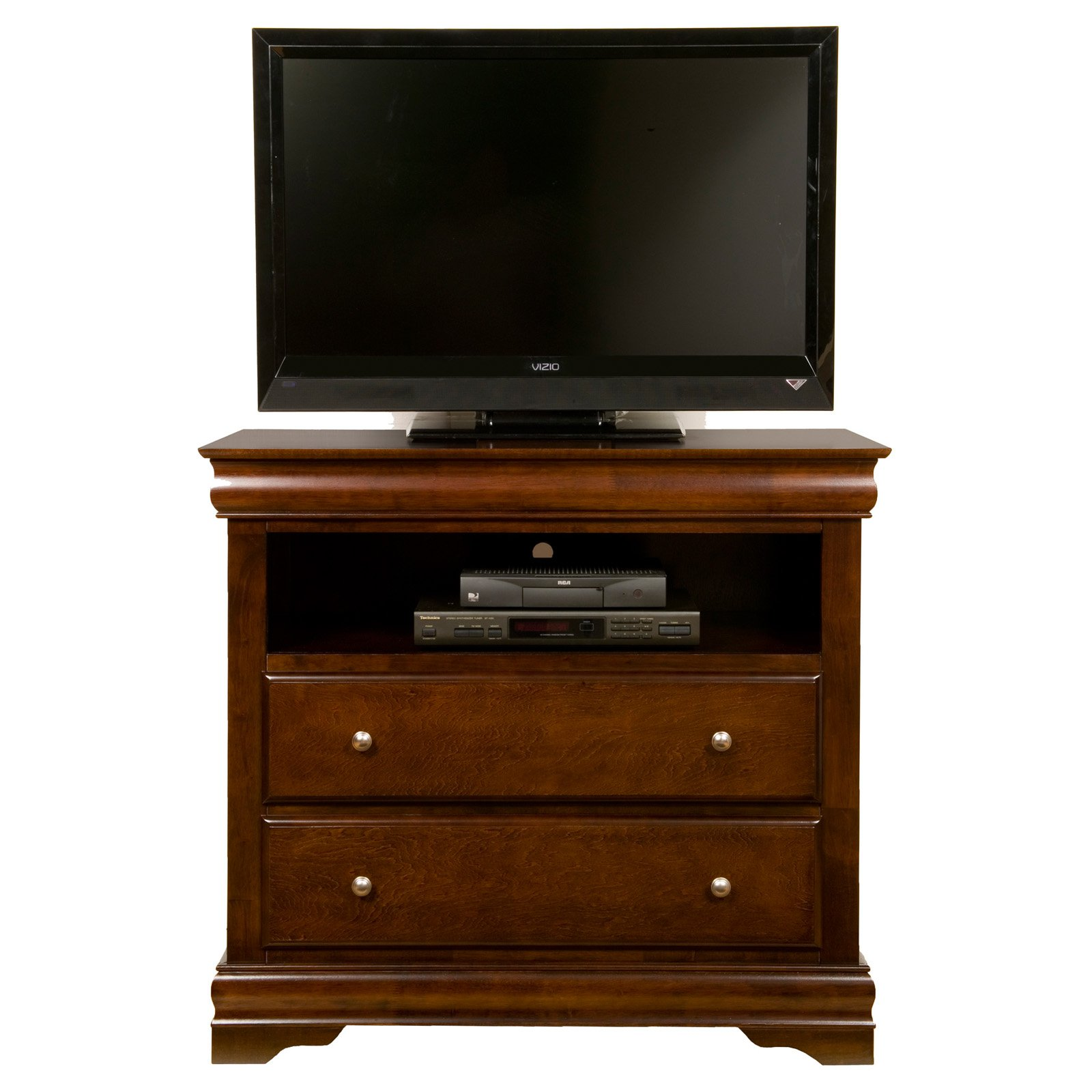 Alpine Furniture Chesapeake 2-Drawer TV Media Chest - Cappuccino