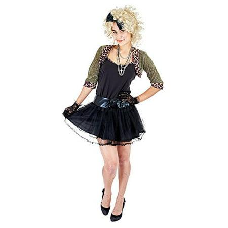 Pop Stars For Halloween (Charm Rainbow Women's 80's Wild Child Pop Star Costume Cosplay for Halloween Theme Party(XL))