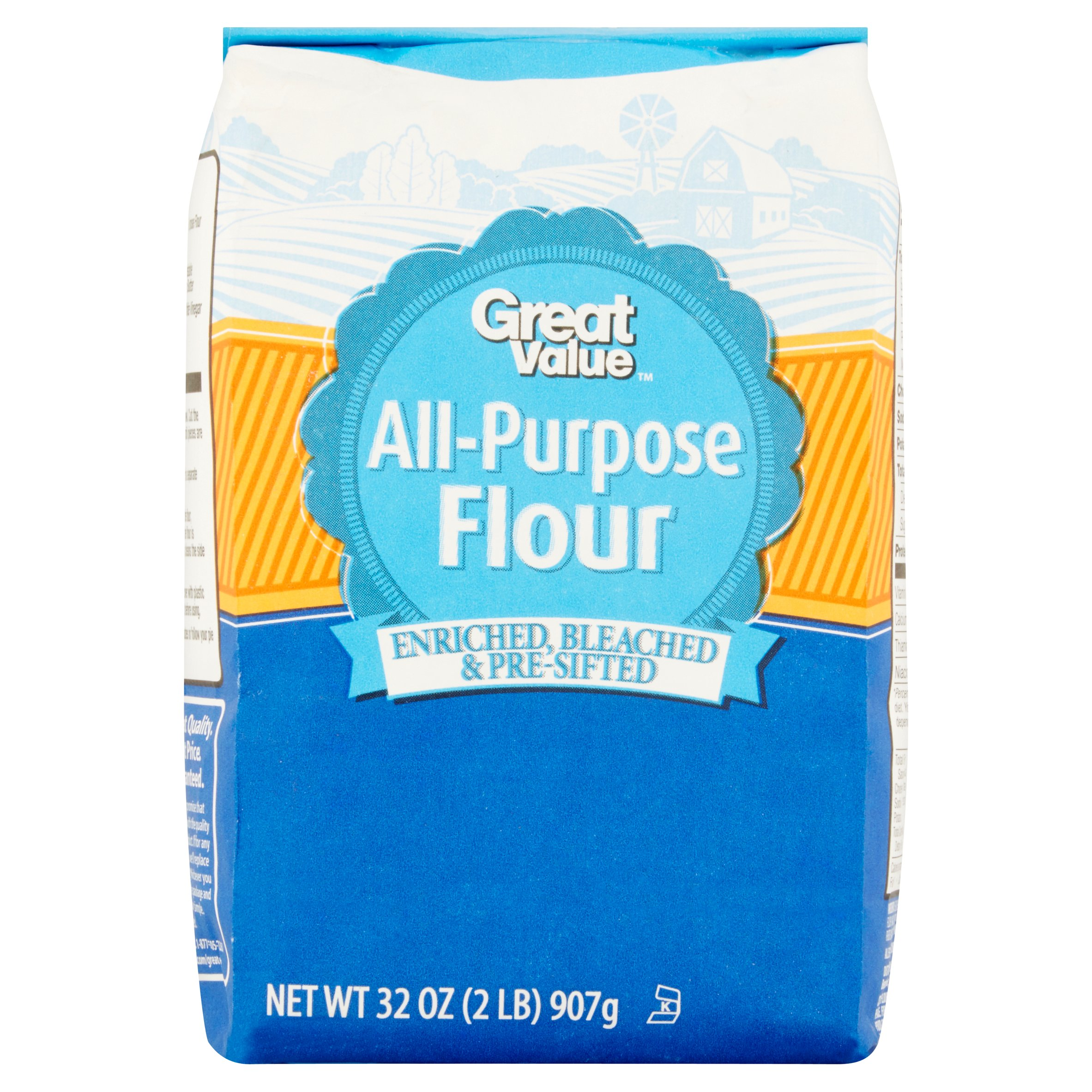 (4 Pack) Great Value All-Purpose Flour, 32 oz