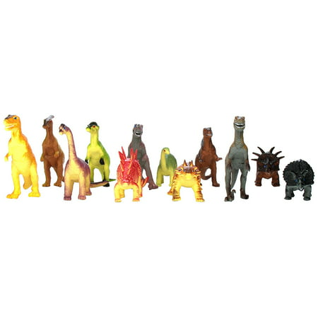 Rhode Island Novelty Assorted Jumbo Dinosaurs Up To 6 In  Long Toy Figures  12 Pack