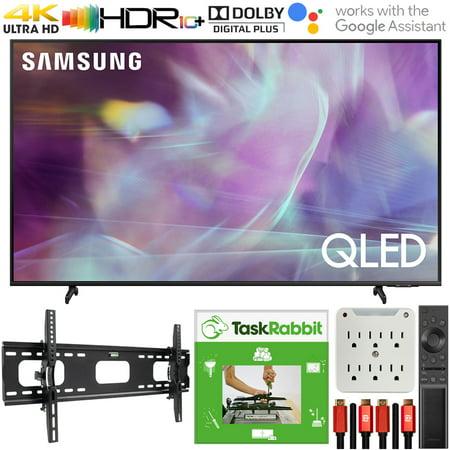 Samsung QN60Q60AAFXZA 60 Inch QLED 4K UHD Smart TV 2021 Bundle with TaskRabbit Installation Services + Deco Gear Wall Mount + HDMI Cables + Surge Adapter