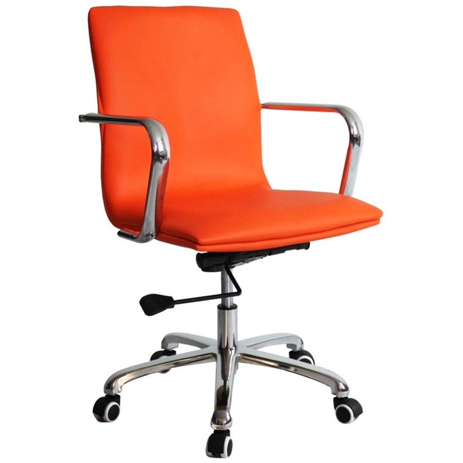 Fine Mod Imports Confreto Office Conference Room Chair Mid Back, Orange