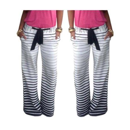 Summer Womens Floral Boho Harem Wide Leg Long Pants Palazzo Trous