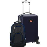 Cincinnati Bengals 2-Piece Backpack & Carry-On Set - Navy