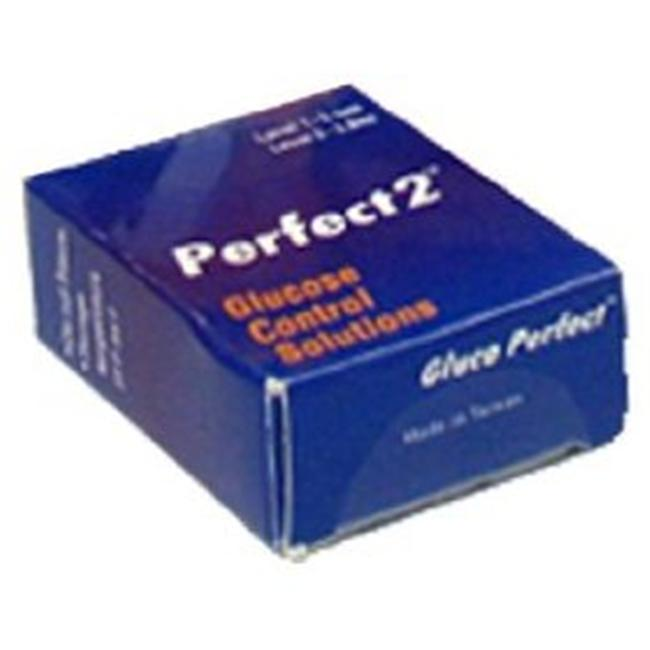 Gluco Perfect DIA-2121 Perfect 2 Control Solution - 3 Single Packs