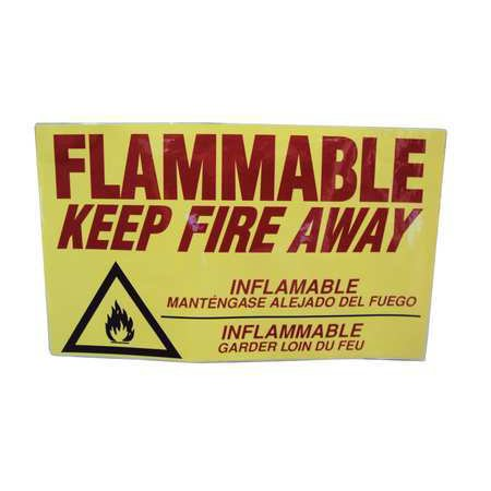 EAGLE C97D Safety Cabinet Label,14 In. H,9 In. -
