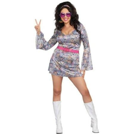 Plus Size Love-Fest Disco Diva Costume (Tips Halloween Fest)
