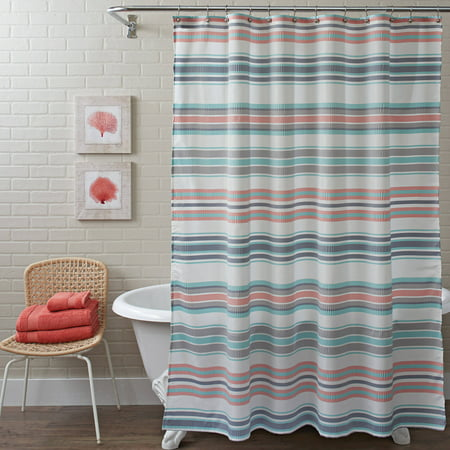 Better Homes and Gardens Seersucker Stripe Shower Curtain. Better Homes and Gardens Seersucker Stripe Shower Curtain  72  x