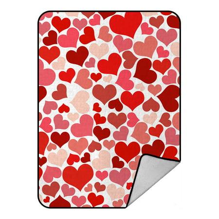 GCKG Valentine's Day Gift Pattern Fleece Blanket Crystal Velvet Cool Fleece Blanket Pattern