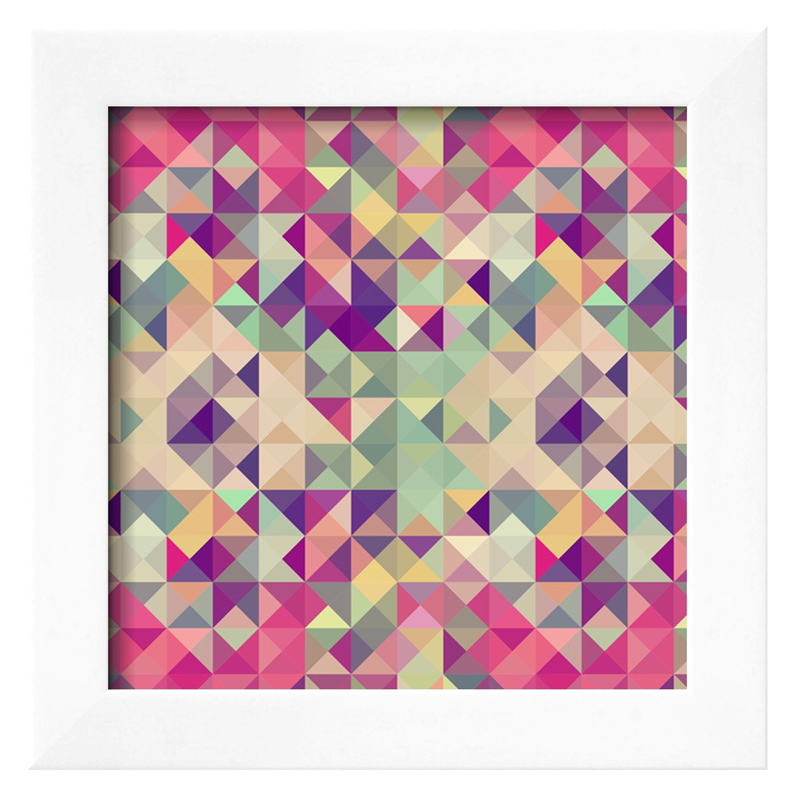 Vintage Hipsters Geometric Pattern Wall Art