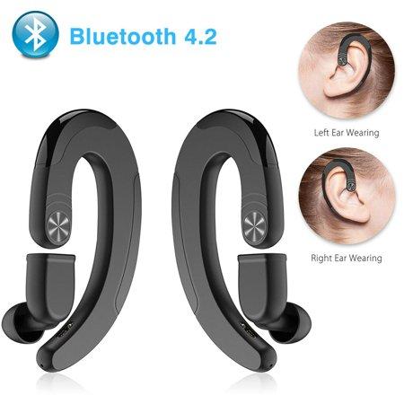 Wireless Bluetooth Headset, EEEKit Bluetooth 4.2 EDR Stereo Bone Conduction Headphones Noise-Canceling...