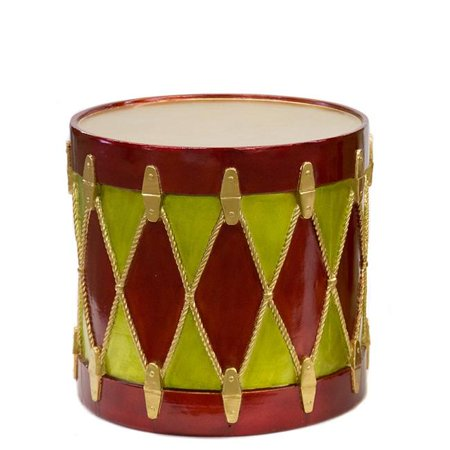 Autograph Foliages J-171820 16 in. x 18 in. Drum Ornament - Red, Green ()