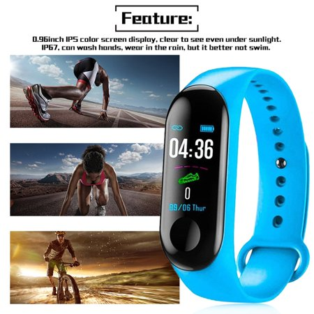 Fitness Tracker,Activity Health Tracker Waterproof Smart Watch Wristband with Blood Pressure Heart Rate Sleep Monitor Pedometer Step Calorie Counter for Android and iPhone - image 5 de 9
