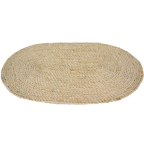 Oriental Furniture Maize Natural Oval Area Rug