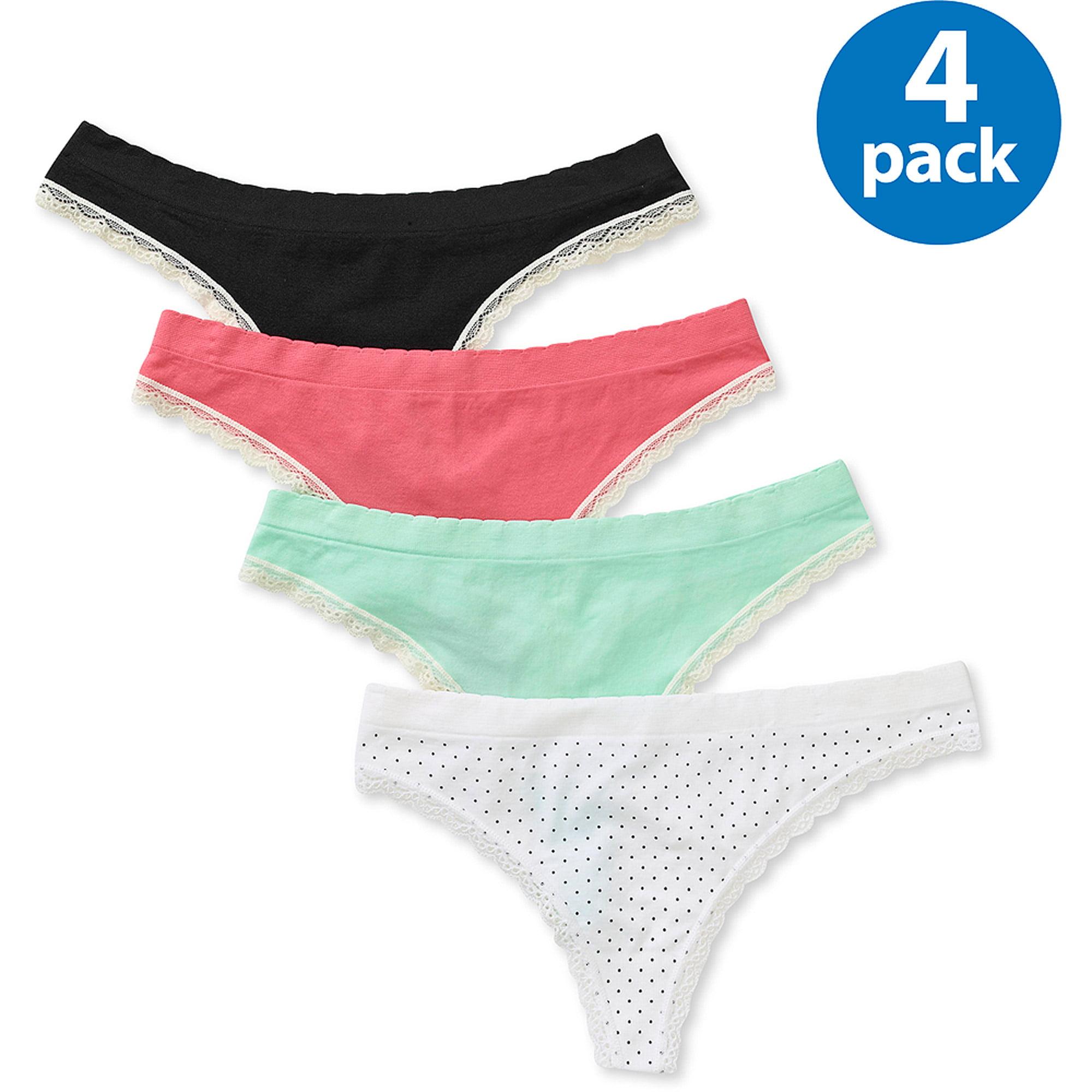 George Women's Seamless Thong Panties 4-Pack