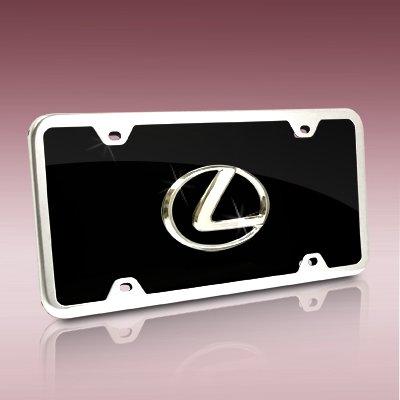 Lexus Logo Black Acrylic License Plate Kit (Acrylic License Plate)