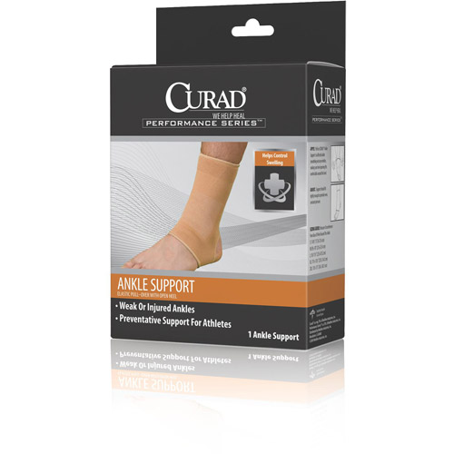 Curad Neoprene Pull-Over Ankle Support with Open Heel Small