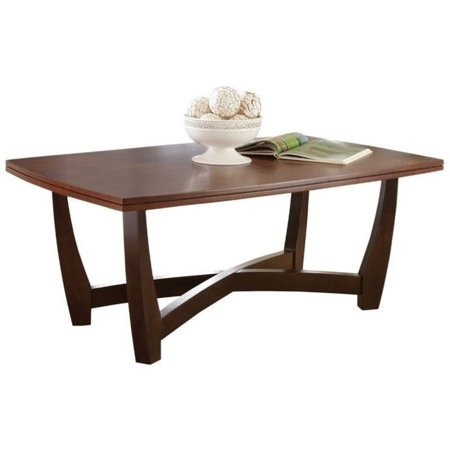 Steve Silver Kenzo Rectangle Cherry Wood Coffee Table