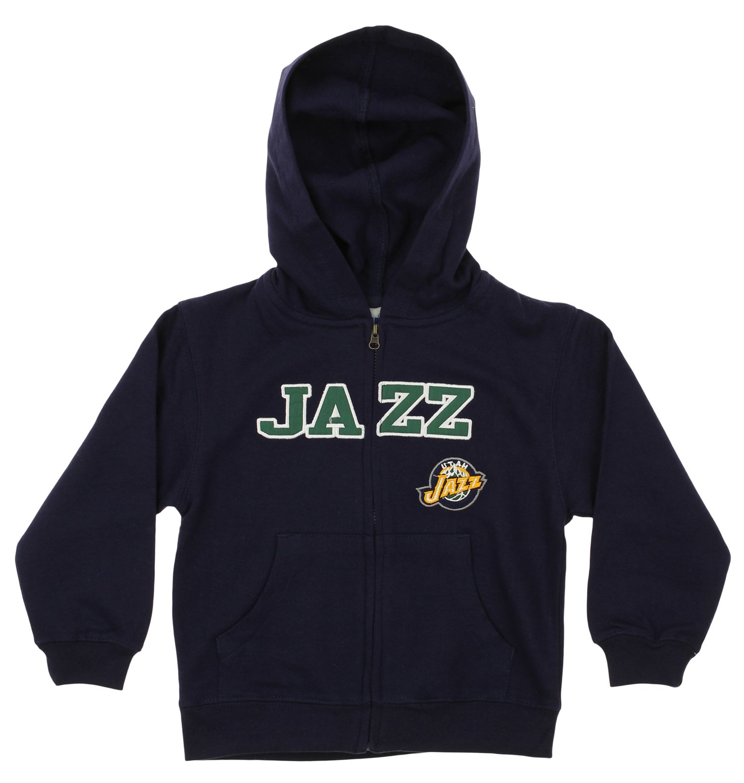 OuterStuff NBA Toddlers Utah Jazz Full Zip Fleece Hoodie, Navy