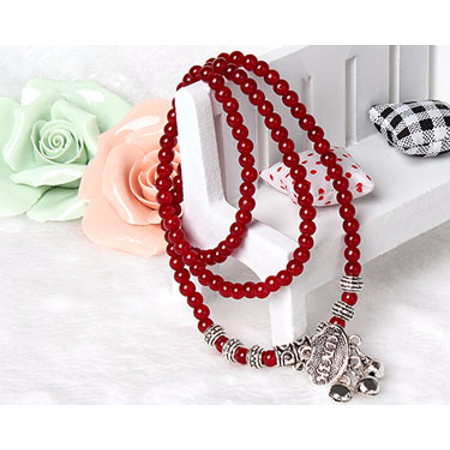 Red Agate Beaded Good Luck Bracelet](Red Glow Bracelets)