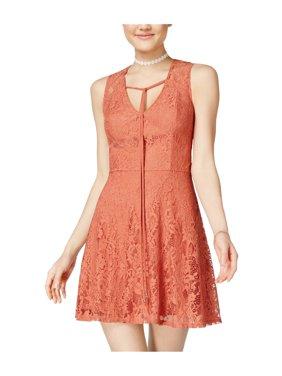 91be0a3bc Product Image Trixxi Womens Smooth Lace Fit & Flare Dress 810 1 - Juniors