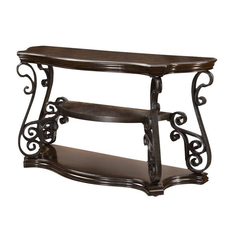 Coaster Sir Rawlinson Console Table In Deep Merlot Walmart Canada