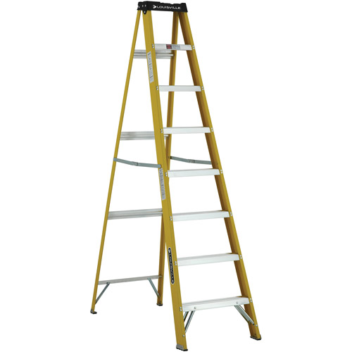 Louisville Ladder 8' ft. Fiberglass Step Ladder, Type I, 250 Lbs Load Capacity, W-3114-08