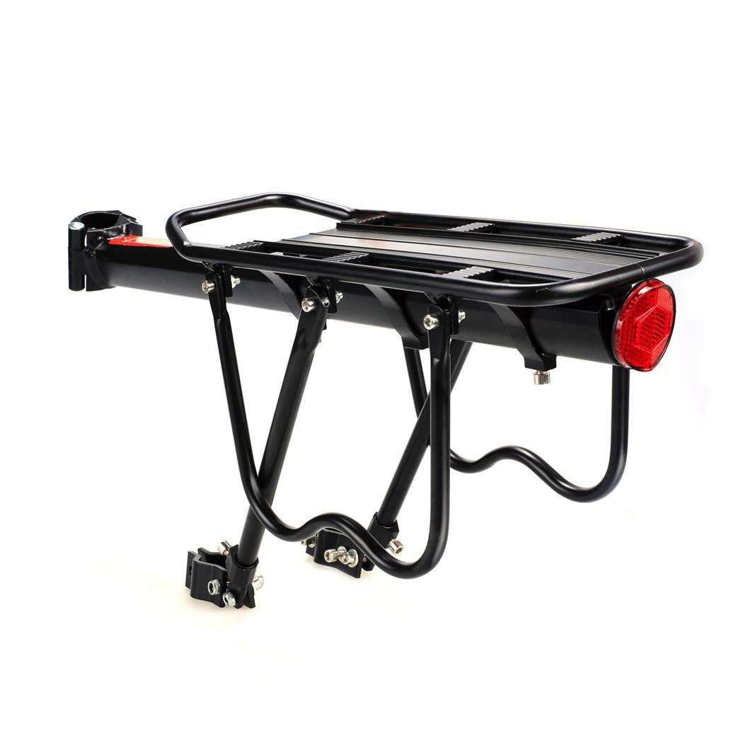 Generic 110 Lbs Capacity Aluminum Alloy Bicycle Rear Rack Adjustable Pannier Bike Luggage Cargo Rack Bicycle Carrier Racks
