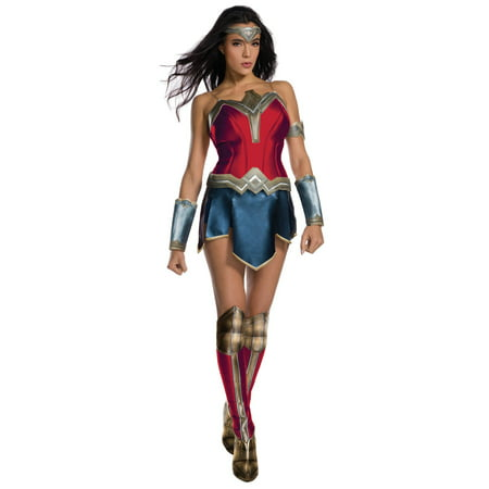 Justice League Womens Secret Wishes Wonder Woman Costume (Woman Alien Costume)