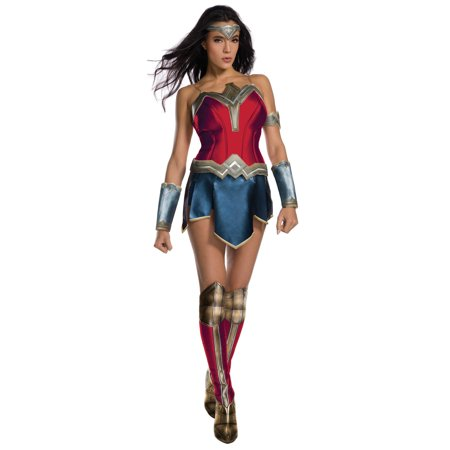 Justice League Womens Secret Wishes Wonder Woman Costume (Woman Soldier Costume)