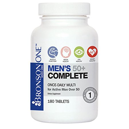 Bronson ONE Daily Hommes 50+ complet multivitamines Multiminéraux (180)