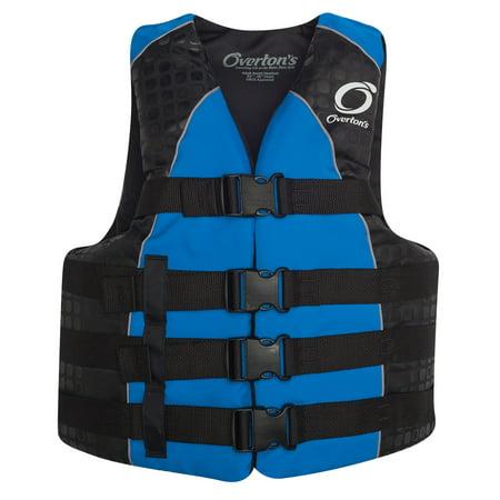 - Overton's 4-Buckle Nylon Cga Wakeboard Vest Blue Mens Sz L/XL