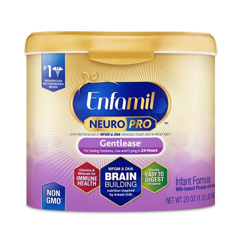 Enfamil Gentlease NeuroPro Baby Formula, Powder, 20 oz Reusable Tub