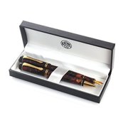 Kaweco Dia2 Fountain Pen and Ballpoint Set - Amber - Fine Point - Limited Edition
