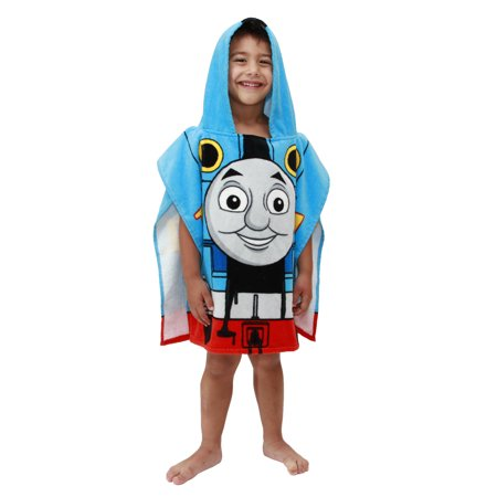 Thomas The Tank Engine Hooded Poncho Bath Towel - Swim Poncho Towel