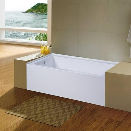 Eviva Nova 60 X 32 Alcove Soaking Bathtub