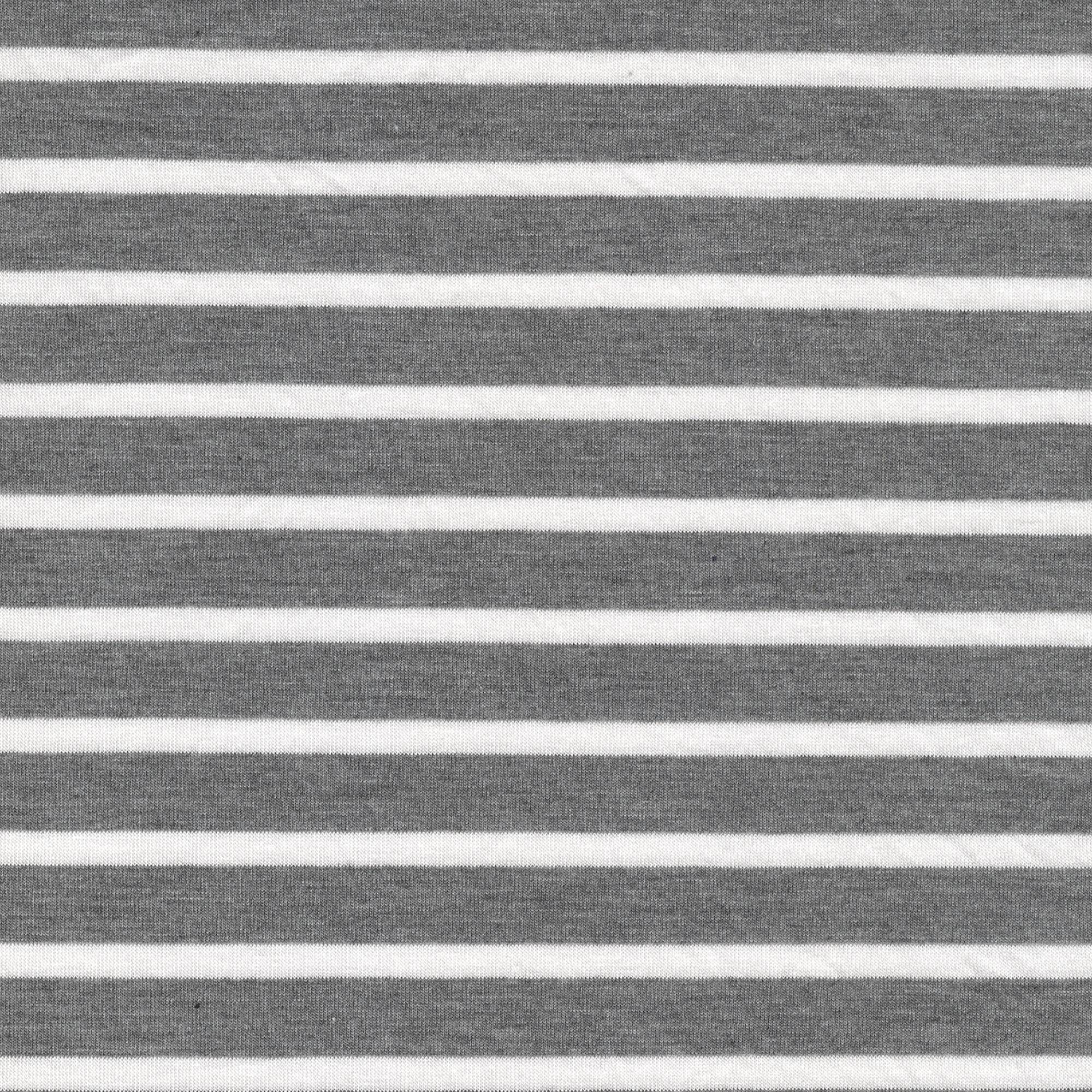 SHASON TEXTILE (3 Yards cut) CLASSIC SEW YARN DYED STRIPE FABRIC, GRAY / WHITE