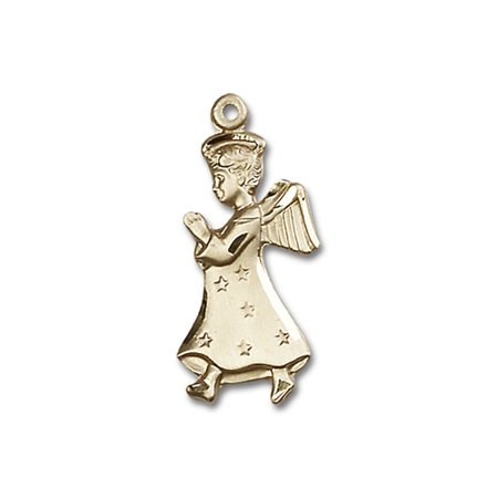 - 14kt Yellow Gold Angel Medal 1 x 1/2 inches