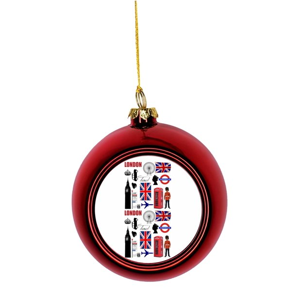 london travel art england britian gb uk united kingdom bauble christmas ornaments red bauble tree xmas balls walmart com walmart com walmart com