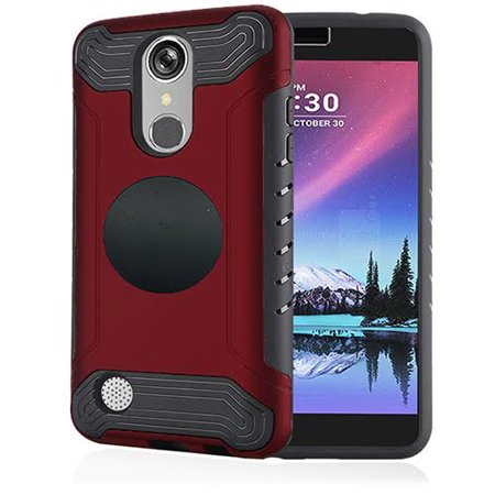 watch bf65c 10f08 Phone Case For LG Fortune, Cricket LG Risio 2, Slim Armor Cover Case +  Screen Protector + Universal Air Vent Car Mount Phone Holder (Red)