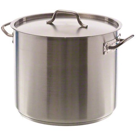 Ready Stock - Update International SPS-12 SuperSteel 18/8 Stainless Steel Induction Ready Stock Pot with Cover, 12-Quart, Natural, Set of 3